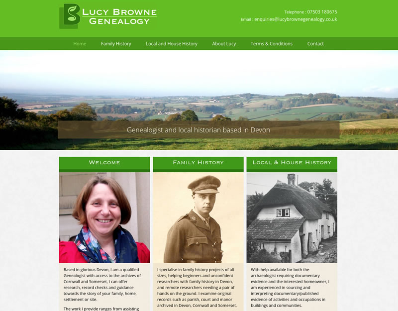 Website development for Lucy Browne Genealogy